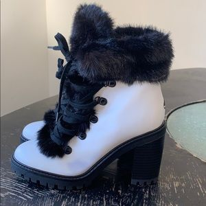 Guess Faux Fur Booties